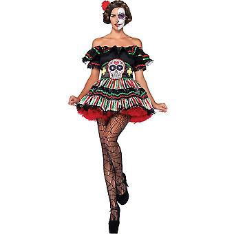 Lady Day van de dood volwassen kostuum