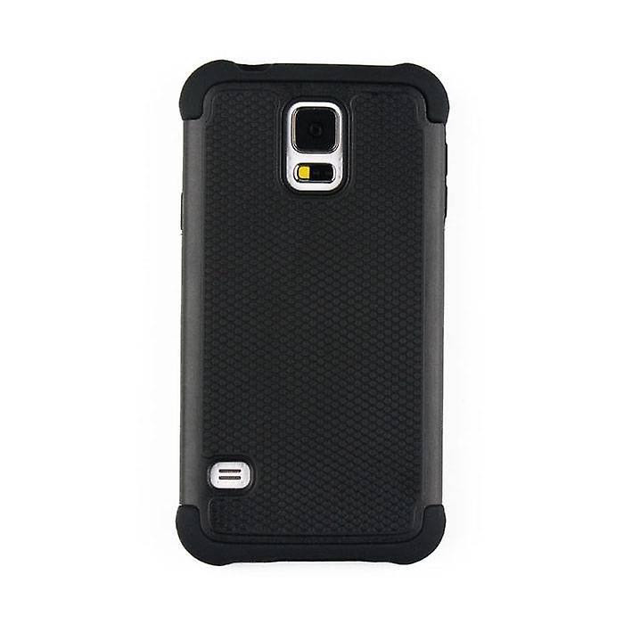 Stuff Certified ® Apple iPhone SE - Hybrid Armor Case Cover Cas Silicone TPU Case Black