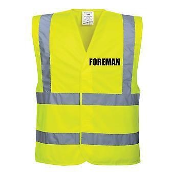 Hi Viz Yellow Vis gilet Foreman