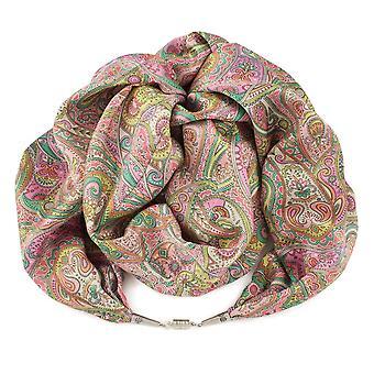 Eternal Collection Kashmir Pink Liberty Print Pure Satin Silk Infinity Scarf