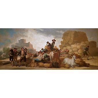 Summer,Francisco Goya,80x34cm