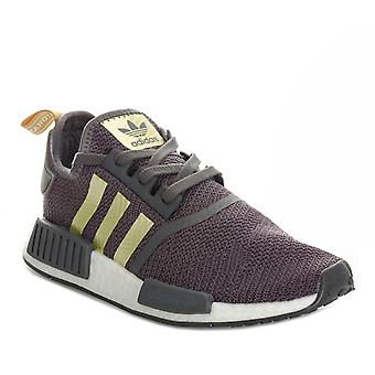 Womens adidas Originals Nmd_R1 Trainers In Grey Five / Gold Metallic