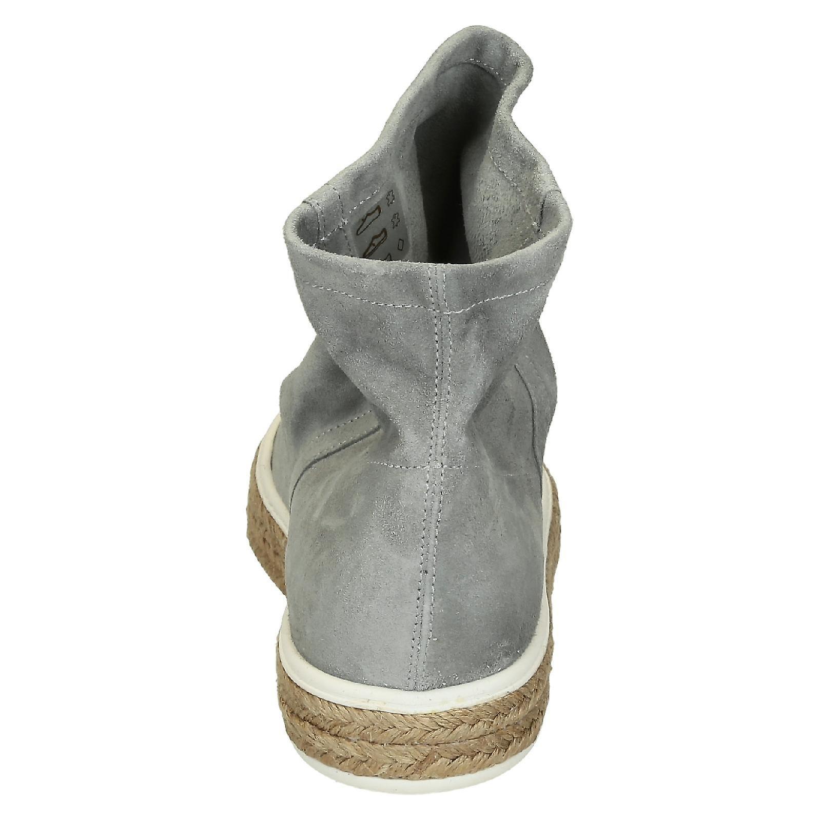 Leonardo Shoes 3091scamosciatoperla Women's Grey Suede Ankle Boots