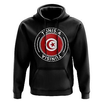 Tunisia Football Badge Hoodie (Black)