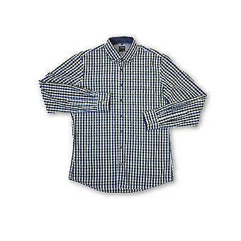 Olyp Casual shirt in green plaid check pattern