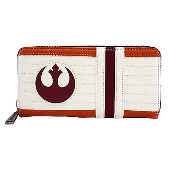 Star Wars Purse X-Wing Pilot Rebel Logo new Official Loungefly Zip Around