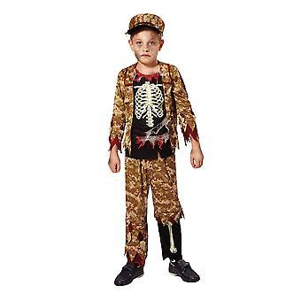 Bristol Novelty Childrens/Boys Skeleton Soldier Costume