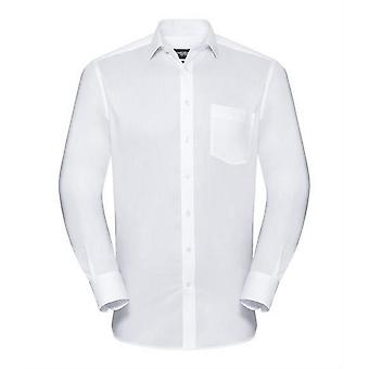 Russell Collection Mens Long Sleeve Tailored Coolmax Shirt