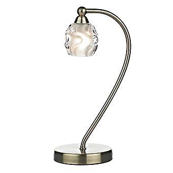 Seattle 1 valo pöytä lamppu antiikki messinki