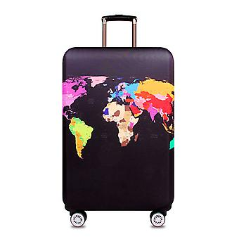 Travel bag covers, world map