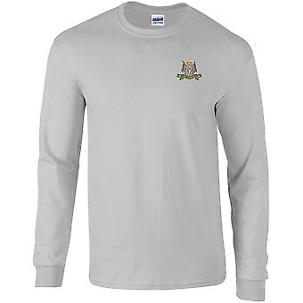 16ème 5ème The Queens Royal Lancers Colour - Licensed British Army Embroidered Long Sleeved T-Shirt