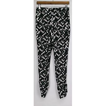 Slimming Options for Kate & Mallory Leggings Ruched White / Black A426083