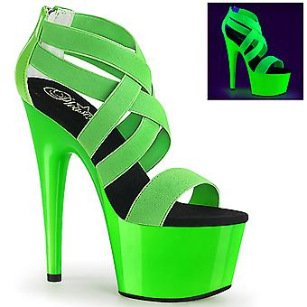 Pleaser Women's Shoes ADORE-769UV Neon Green Elastic Band-Patent/Neon Green