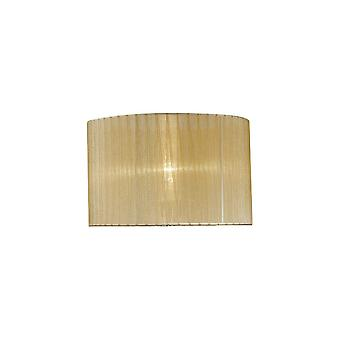 Diyas Florence Round Organza Shade Soft Bronze 360mm X 230mm, Suitable For Table Lamp