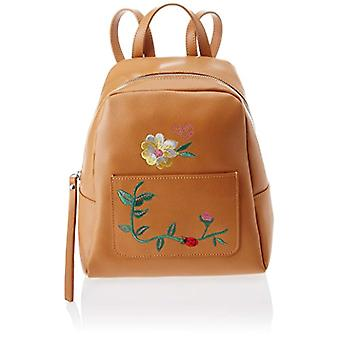 Piece Bags 8710 Brown Women's backpack bag (Tan) 24x25x13 cm (W x H x L)