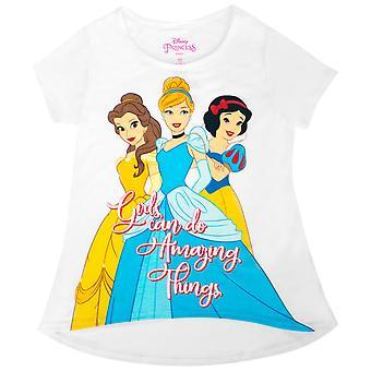 Disney Princesses Girls Do Amazing Things Youth White Tee Shirt