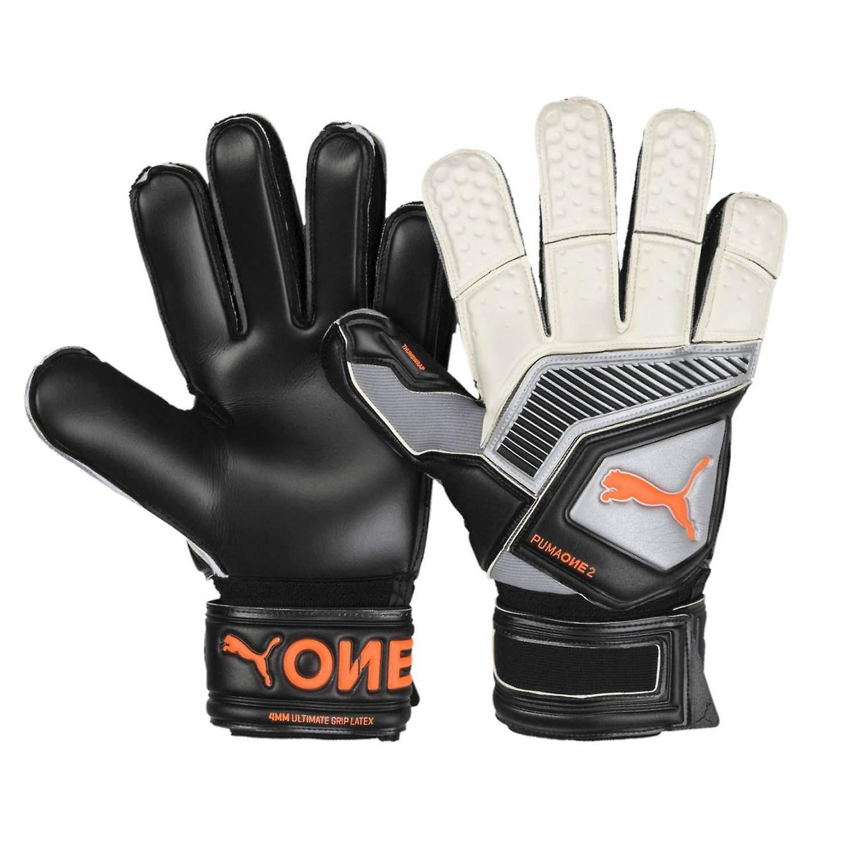 Puma One Protect 2 RC Mens Goalkeeper Goalie Glove Black/Silver/White