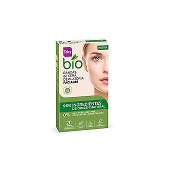 Taky Bio Natural 0% Bandas De Cera Faciales Depilatorias 20 Uds Pour Les Femmes