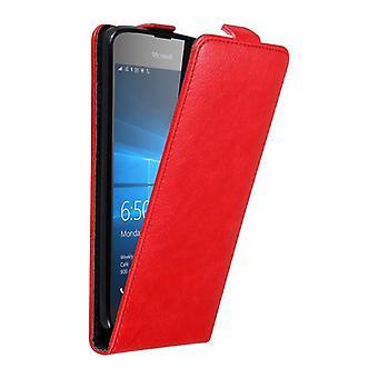 Cadorabo Hülle für Nokia Lumia 650 Case Cover - Handyhülle im Flip Design mit Magnetverschluss - Case Cover Schutzhülle Etui Tasche Book Klapp Style