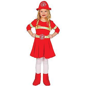 Costume de déguisements de pompier filles