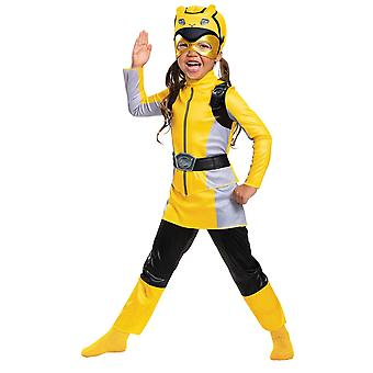 Girls Yellow Ranger Costume with muscles - Power Rangers