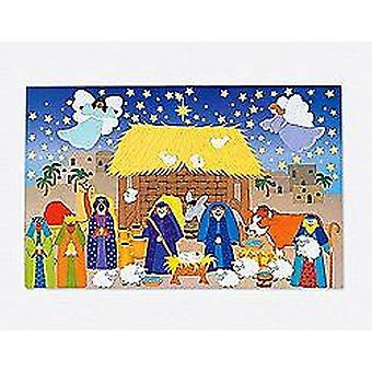 SALE - 12 Giant Christian Nativity Sticker Scene Crafts for Christmas