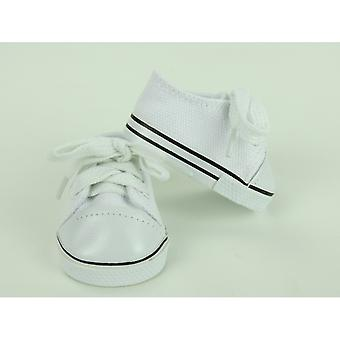 "18"" Doll Clothing Low Top Sneakers, White"