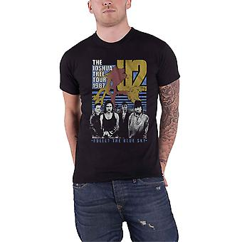 U2 T Shirt Bullet The Blue Sky Band Logo new Official Mens Black