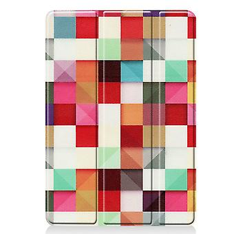 Apple iPad 10.2 2019 (Gen 7) Slim fit caz tri-fold - Pătrate colorate