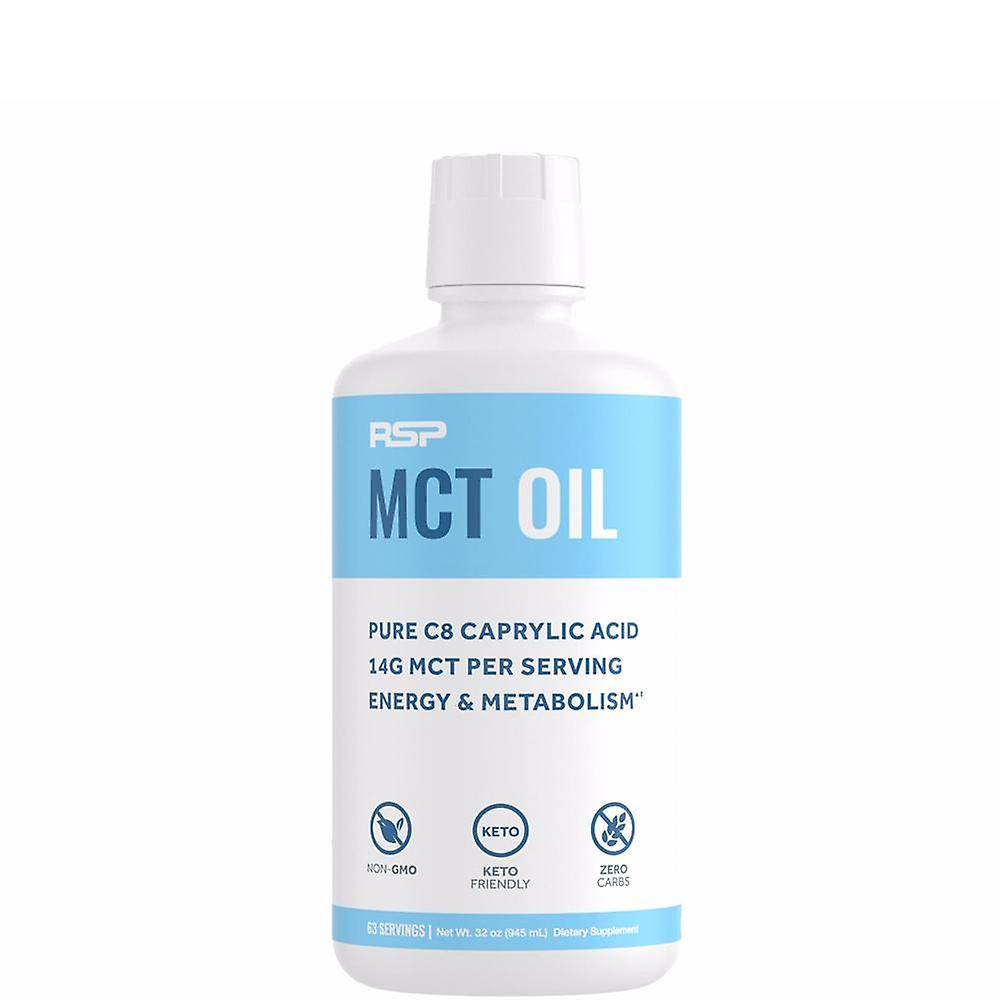 Rsp mct oil - premium mcts from pure c8 caprylic acid, keto friendly supplement for boosting energy & metabolism, 14g per serving, 32 oz.