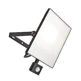 Saxby verlichting Scimitar PIR geïntegreerde LED PIR 1 licht buiten muur licht getextureerde zwart, Frosted IP44 73460