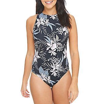 Zoggs Womens Soft Nature Hi Front Swimming Swim Summer Swimsuit Costume - Multi