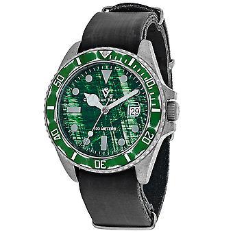 Christian Van Sant Montego Vintage Green Dial Watch - CV5202