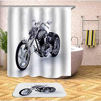 Dragon Motorcycle Shower Curtain