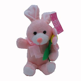 Plush Easter Bunny with Flower - Pink