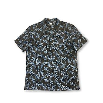 Luciano Barbera shirt in brown and blue floral
