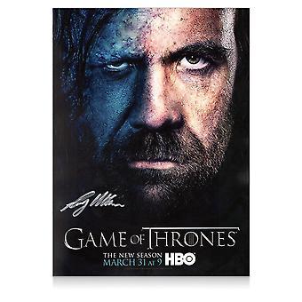 Sandor Clegane signeret spil af troner plakat