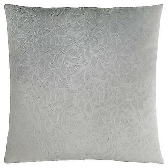 """18"""" x 18"""" Light Grey, Floral Velvet - Pillow"""