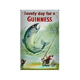 Guinness fisk preget metall tegn
