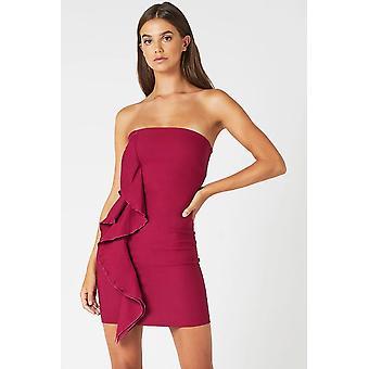 Mini jurk met bessen franje