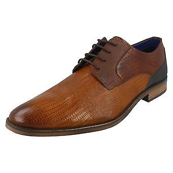 Hombres Bugatti Smart Encaje Up Zapatos 312-16413-2121