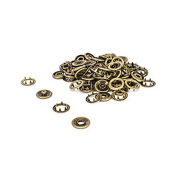 20mm Bronze Snap Poppers Prong Press Studs Fasteners, Hand Tool Set