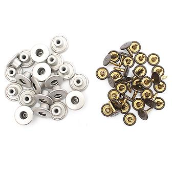 14mm Silver Open Top Jeans Buttons with Pins