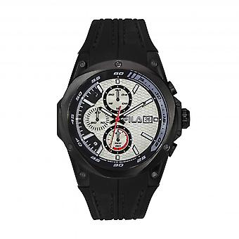 Montre Fila 38-823-006 - Black Silicone Chronograph Watch 51 mm Men