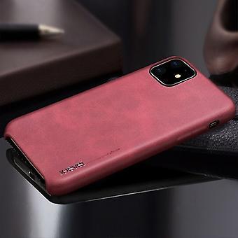 Für iPhone 11 X-Level Vintage Serie Cowboy Textur flexible Ledertasche, rot