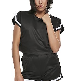 Urban Classics Ladies-MESH Short Top Shirt Black