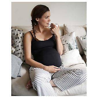 Die wesentliche eine Mutterschaft Pflege Gurt Pyjama Set Streifen
