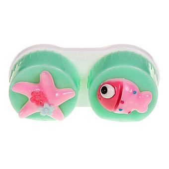 Light Green Fish Contact Lens Case
