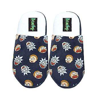 Rick Et Morty Character House Chaussures Adultes Black Mule Slippers
