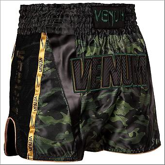 Venum full cam muay thai shorts black/green